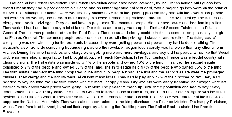 Essays on french revolution