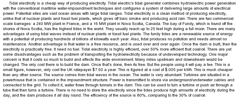 essay of save electricity