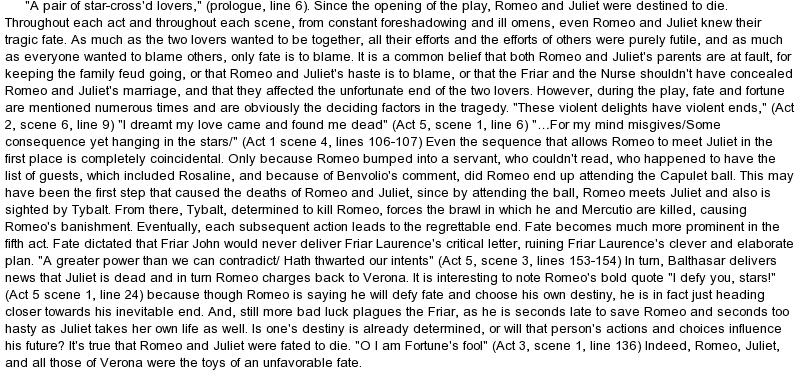 immaturity in romeo and juliet essay