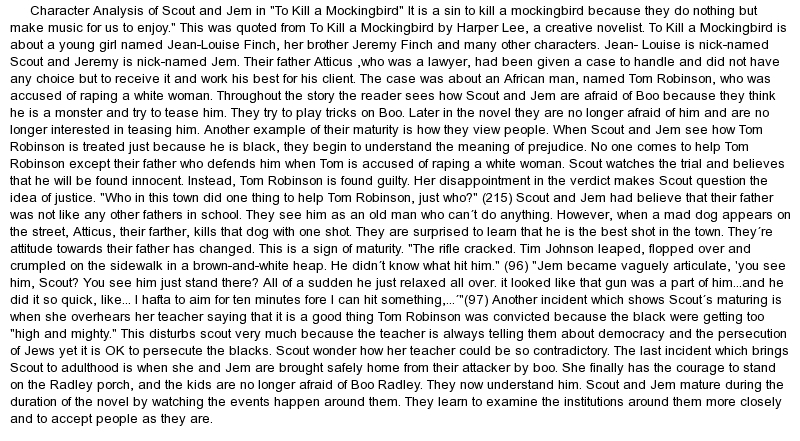 to kill a mockingbird character esssay essay To kill a mockingbird character analysis essay atticus, cool ways to do your homework, what do i write my persuasive essay about.