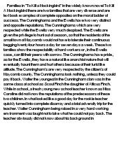 to kill a mockingbird - essay on families
