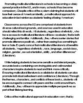 essay about multicultural education White papers emerging leaders the research shows that five areas matter a great deal in the education of a multicultural (1992) multicultural education: from a compensatory to a scholarly foundation in research and multicultural education: from the margins to the.