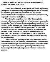 Combining Nurse Leader with Advocacy - Essay Example