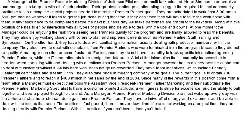 Job description essay