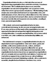 Organaizational behavior paper - Buy Original Essays online