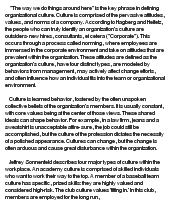 organizational culture 10 essay Learn how to understand people's culture, community and leadership to enhance  engagement.