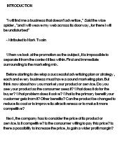 promotional strategies essay