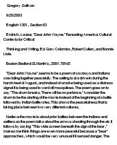 Dear john essay