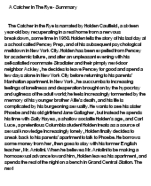 catcher in the rye 2 essay Catcher in the rye - part 2 - red essay example the glass case in the novel the catcher in the rye, the author, j - catcher in the rye introduction.