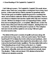 O Captain My Captain Poem