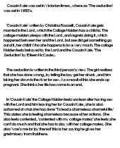 Christina rossetti cousin kate essay
