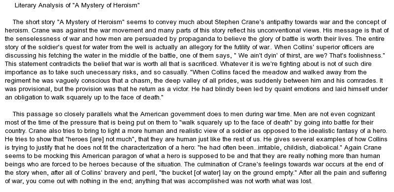 essays heroism