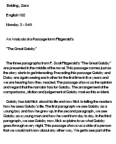 an analysis of the character of jay gatsby in the novel the great gatsby by f scott fitzgerald 2011-2-18  the great gatsby by: f scott fitzgerald concept/vocabulary analysis literary text: the great gatsby by f scott  to relate to the novel the great gatsby.