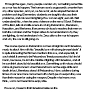 criticism of homers the iliad essay Read this essay on homers iliad come browse our large digital warehouse of free sample essays get the knowledge you need in order to pass your classes and more.