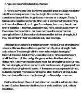 beowulf modern day hero essay The paper is comparing beowulf and a modern day hero batman most of us have heard of heroes such as, batman, spiderman, superman, and even the hulk.