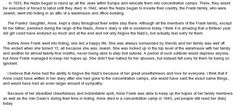 the diary of anne frank book review essay Diary of anne frank essay book review format for anne frank essay dissertation on the diary of anne frank essays see also dissertation abstracts international database the perfect storm essay member login remember me.