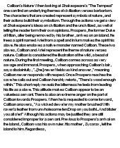 Caliban essays