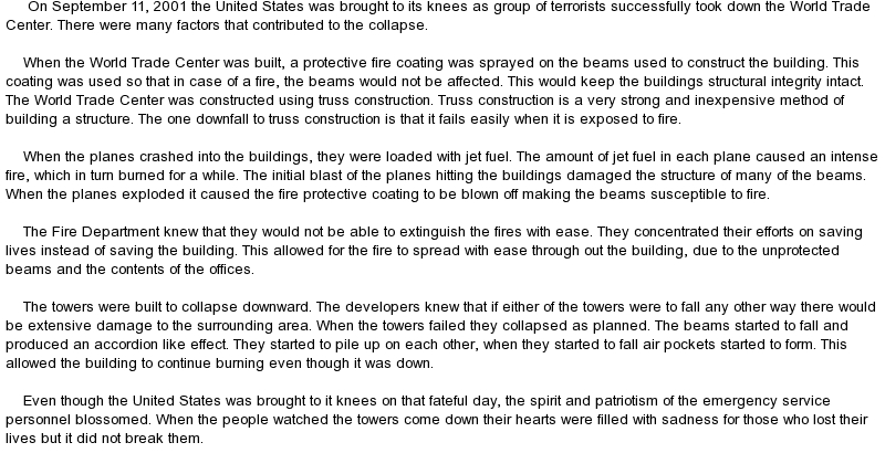 personal essay on september 11